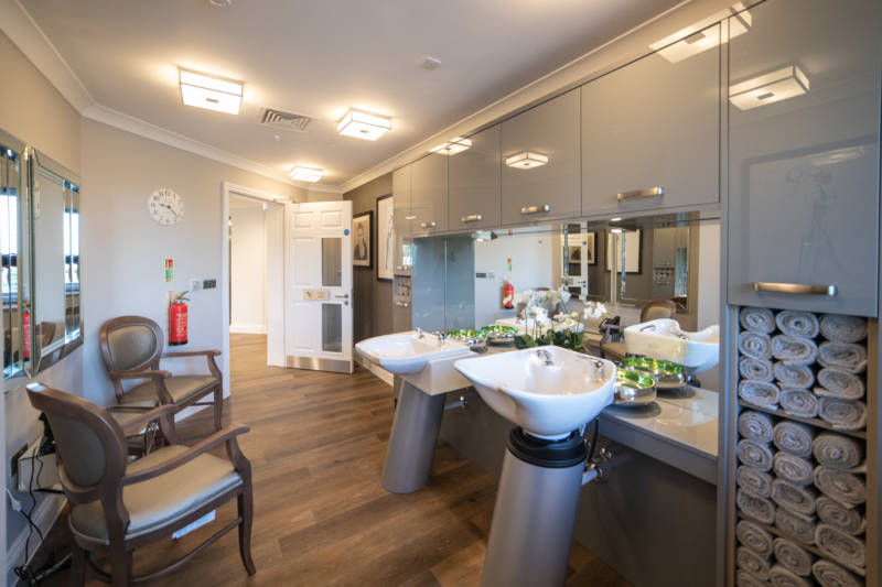 Internal view Barchester Care Home Hair Dressers